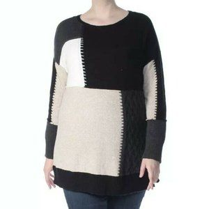 Style & Co Color Block Tunic Sweater 0X